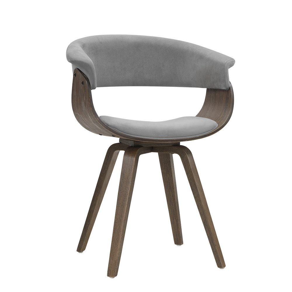 Lue Grey Fabric / Plywood Dining Chair