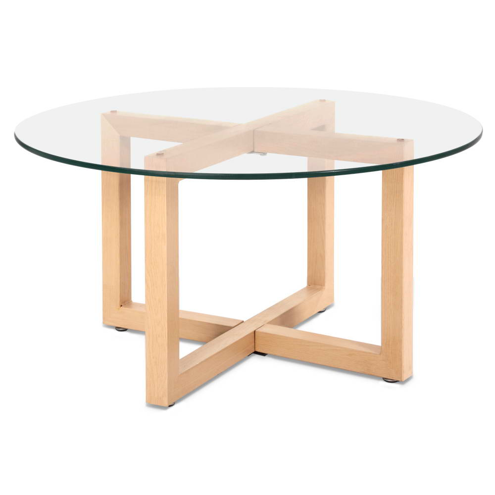 Eva Tempered Glass Round Coffee Table