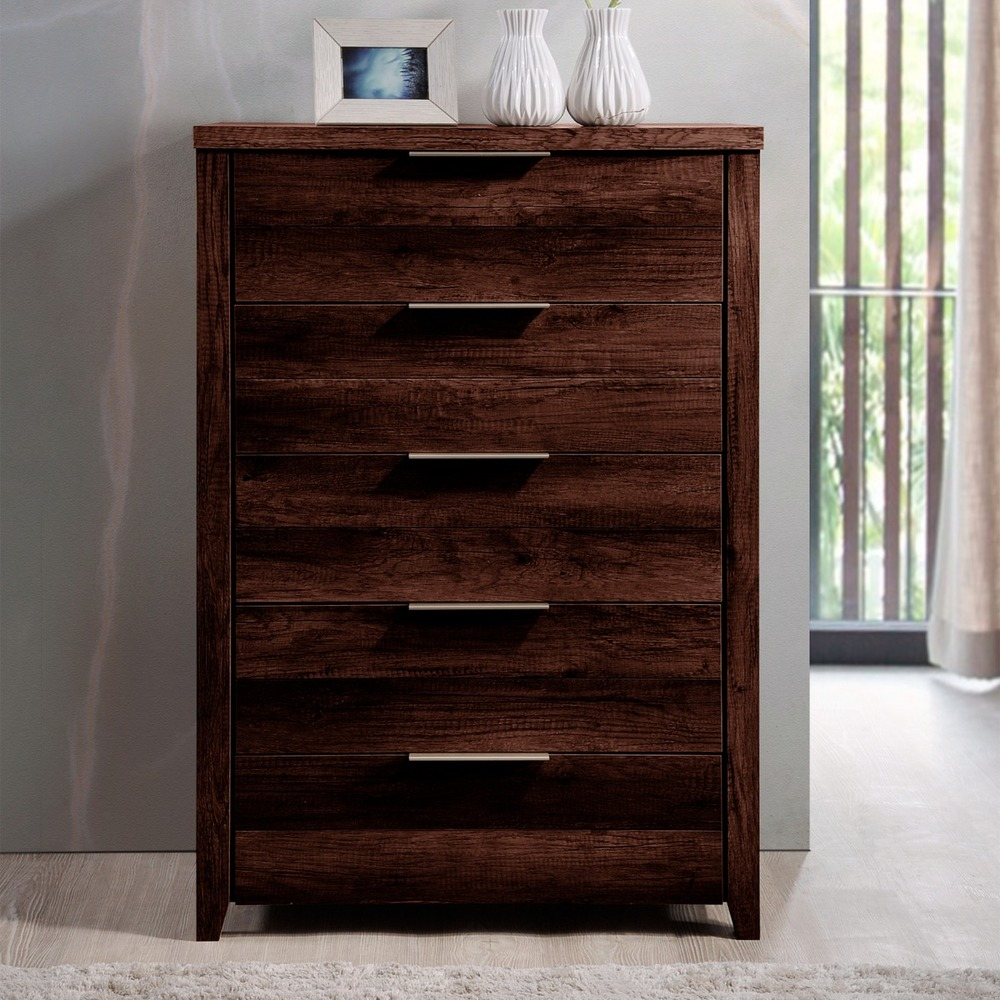 Erin 5 Drawer Tallboy Wenge