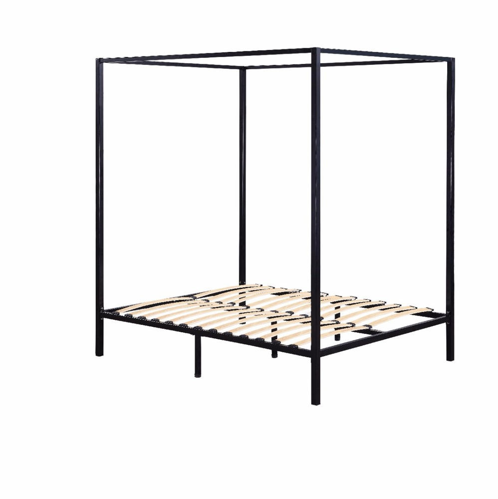 Four Poster Double Bed Frame Black