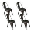 4 x Lory Metal Bar Stools Gunmetal