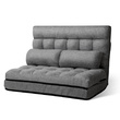 Dina 2 Seater Foldable Floor Lounge Linen Sofa Bed Grey