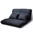 Dina 5 Position Foldable Floor Lounge Sofa Bed Suede Charcoal