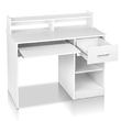 Hugo Office Computer Desk with Storage Drawer White