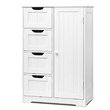 Kenya Bathroom Tallboy Cabinet  4 Drawers White