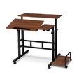 Chad Mobile Twin Lapto Desk Dark Wood