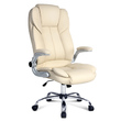 Kasie PU Leather Executive Office Desk Chair Beige