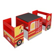 Kati Kids Fire Truck Table Chair Set
