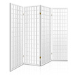 Elida 4 Panel Wooden Room Divider White