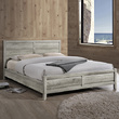 Erin Queen Size Bed Frame White Ash