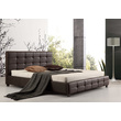 Vada Brown PU Leather Bed Frame King