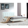 Hilton PU Leather Deluxe Double Bed Frame White
