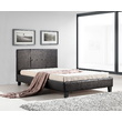 Del King Single Bed Frame PU Leather Brown
