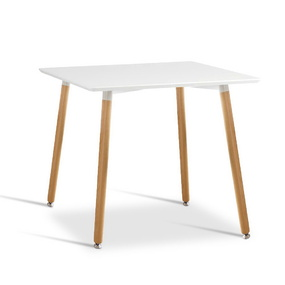 Metz Beech Wood White Dining Table 80cm