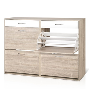 Luz 2 Tier Shoe Cabinet Wood