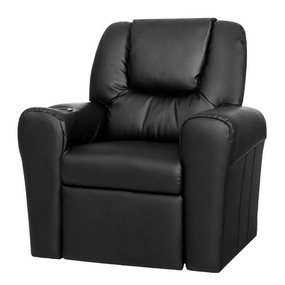 Bailey Kid's PU Leather Reclining Armchair Black