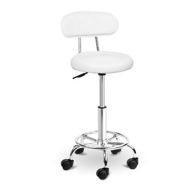 Tamar PU Leather Salon Swivel Backrest Chair White