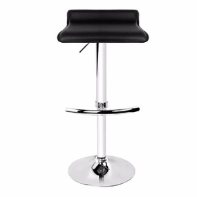 2 x Mika Black PU Leather Bar Stools