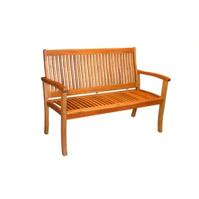 2 Seater Acacia Bench Chair Natural