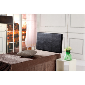 Black PU Leather Single Bed Headboard