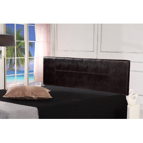Brown PU Leather King Bed Headboard