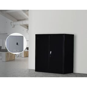 Ellen 2 Doors Gym / Office Filing Cabinet Locker Black